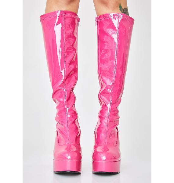 Funtasma Sugar She's Scary Sexxxy Patent Boots