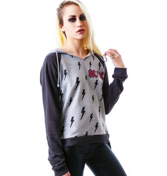 Junk Food Clothing AC/DC Pullover Sweatshirt