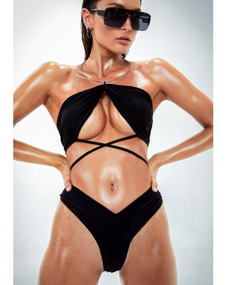 Cabana Cutie Ruched Bikini Set