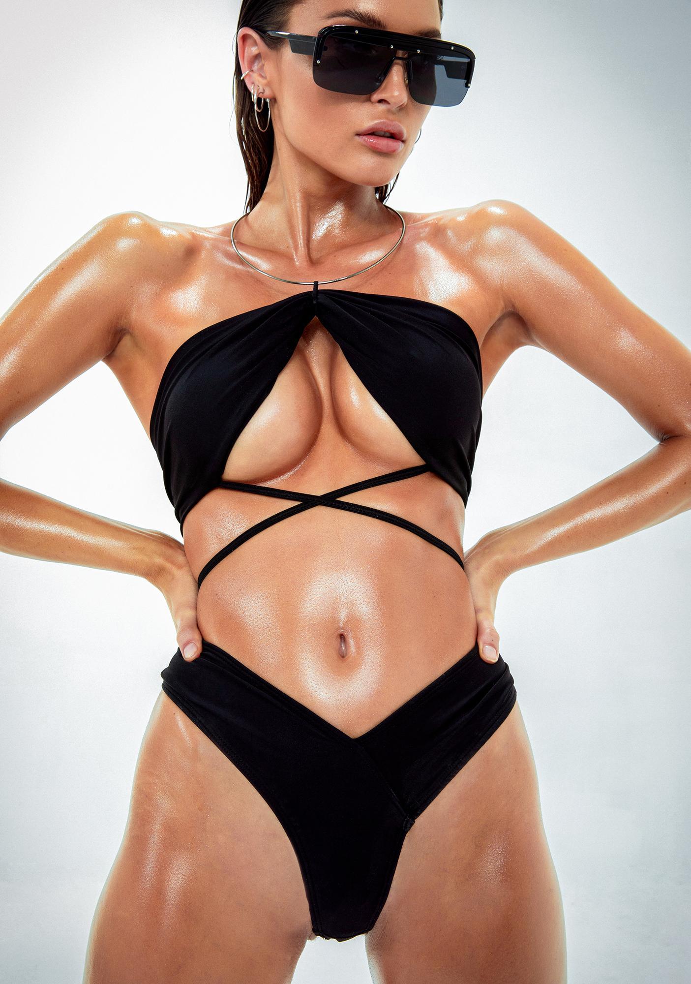 Poster Grl Cabana Cutie Ruched Bikini Set
