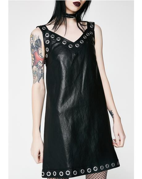 Alice Vegan Leather Slip Dress