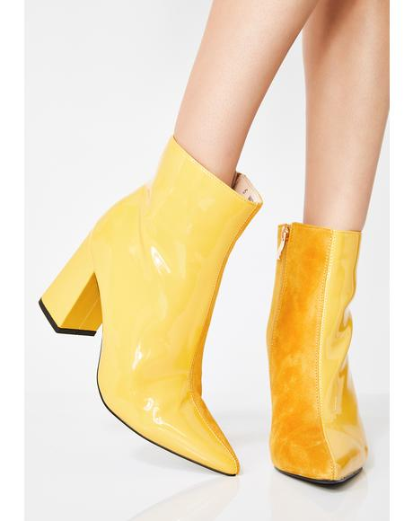 Chaos Two-Tone Ankle Boots