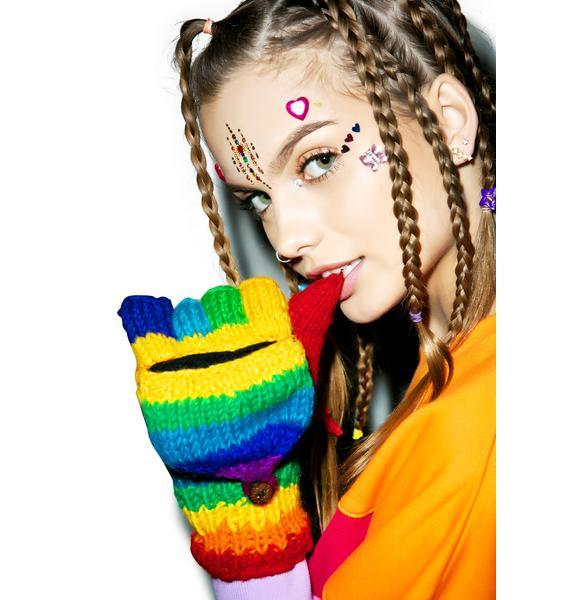 Rainbow Luva Mittens