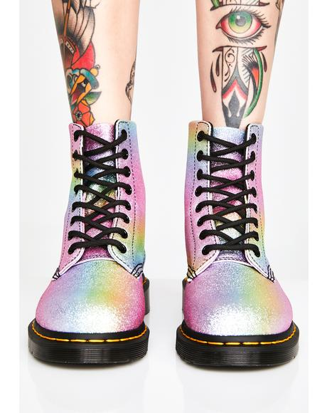 Rainbow Glitter Pascal Boots