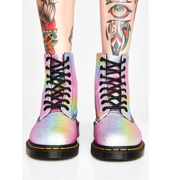 Dr. Martens Rainbow Glitter Pascal Boots