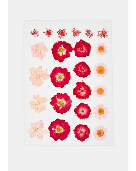 Red & Pink Flower Body Sticker Set