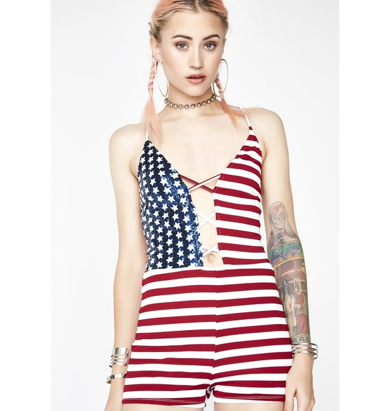 Party In The USA Romper