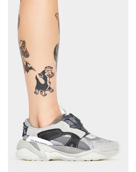 X Les Benjamins Thunder Disc Sneakers
