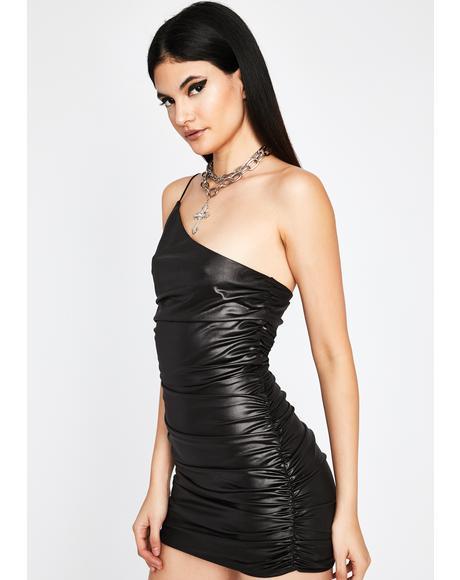 Burn It Down Faux Leather Dress