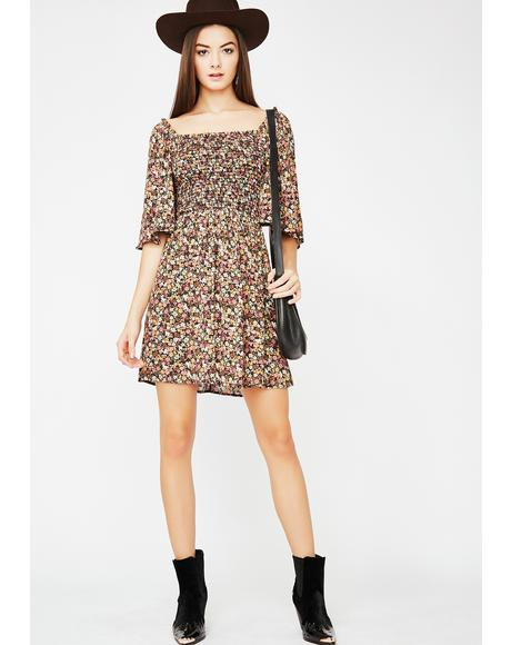 Wonderlust Flowy Mini Dress