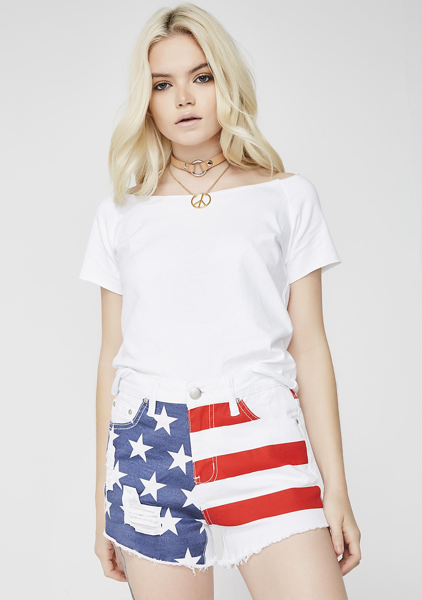 U.S. Of Bae Flag Shorts