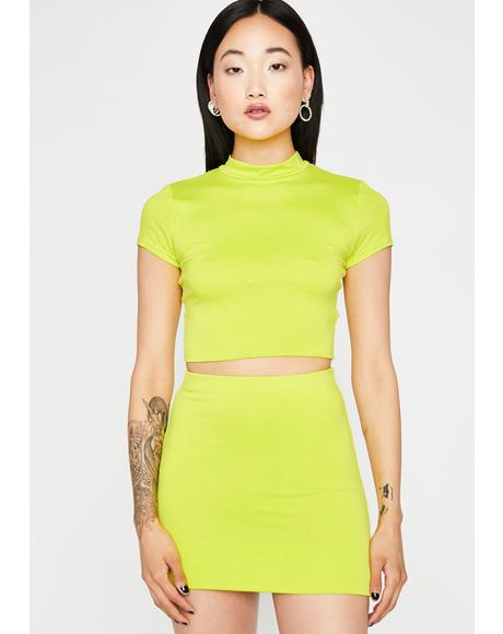 Sour Like A Popstar Skirt Set