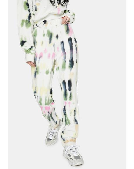 Blanc Watercolor Tie Dye Costa Joggers