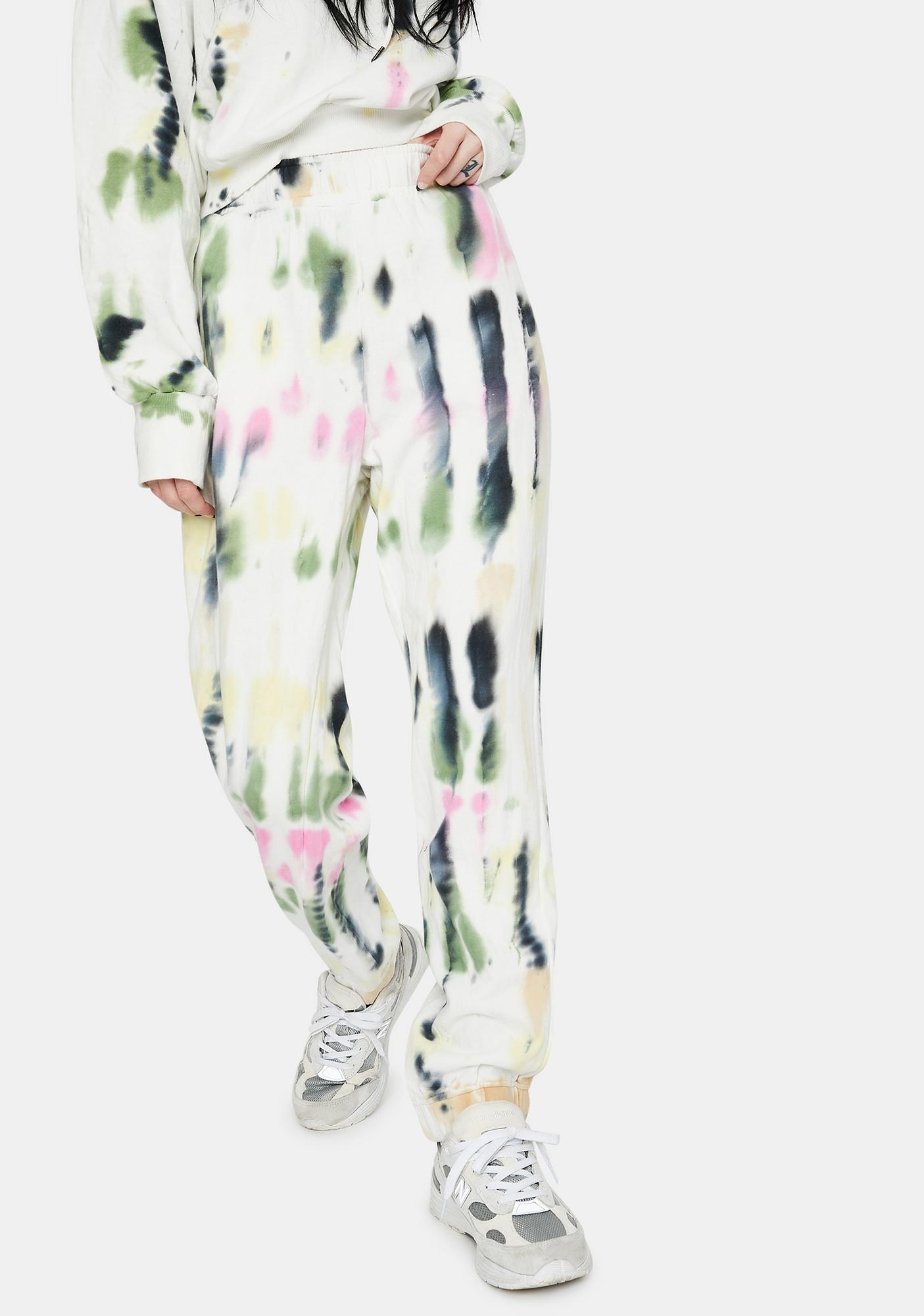 AFRM Blanc Watercolor Tie Dye Costa Joggers