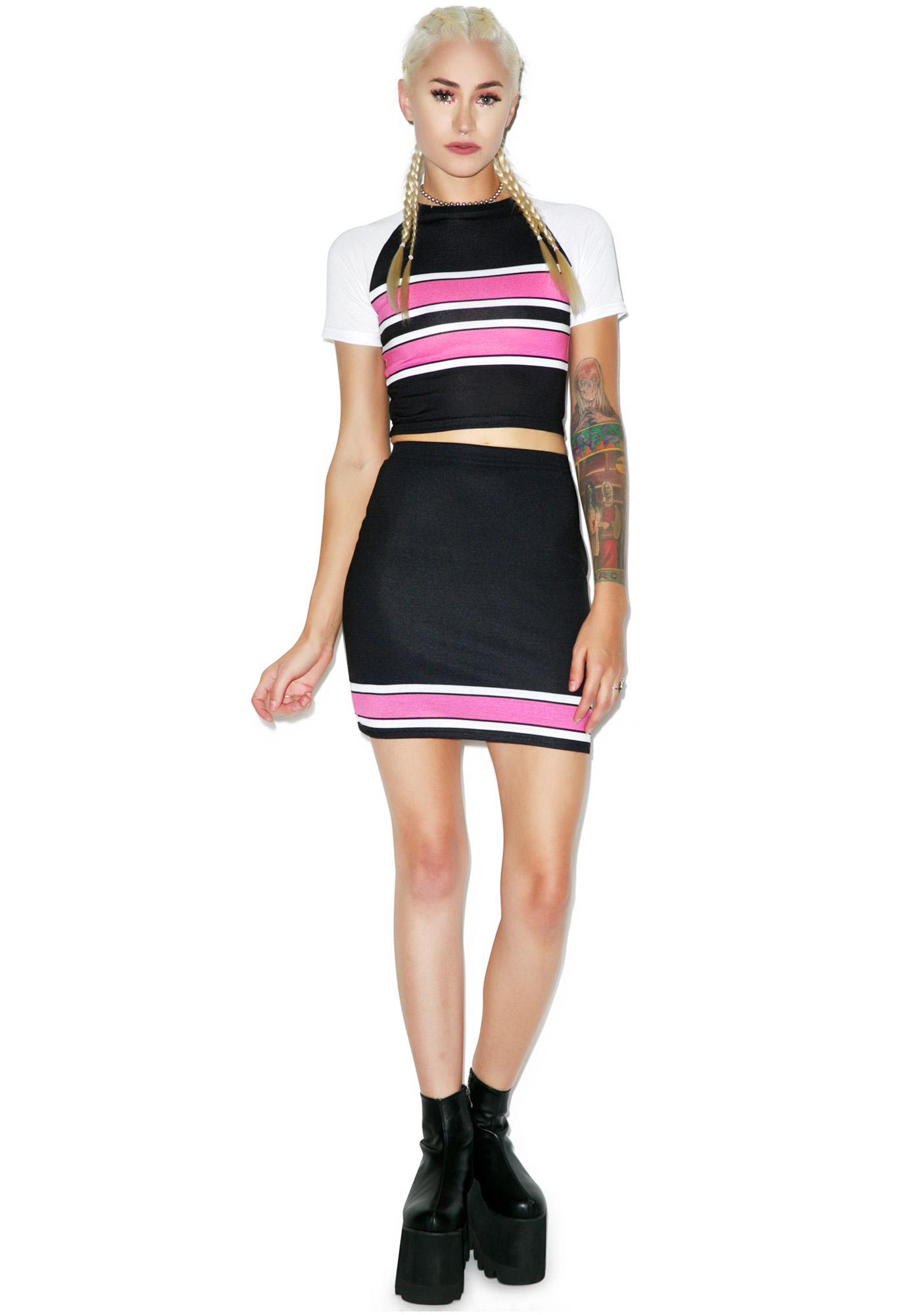 Legally Pink Bodycon Skirt