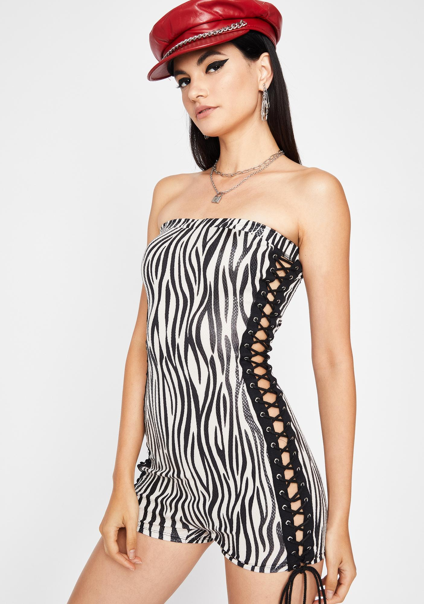 Legendary Crusader Zebra Playsuit