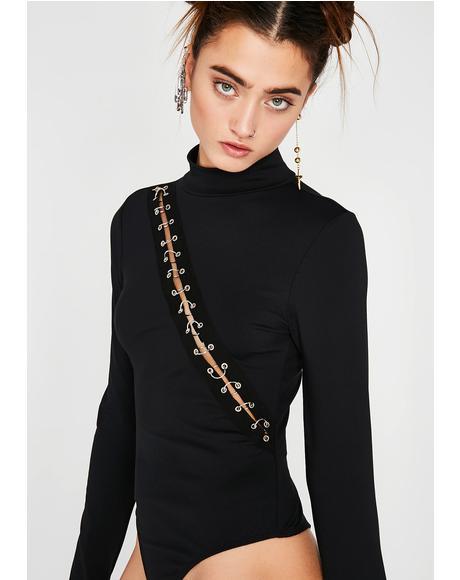 Hook It Up Pierced Bodysuit