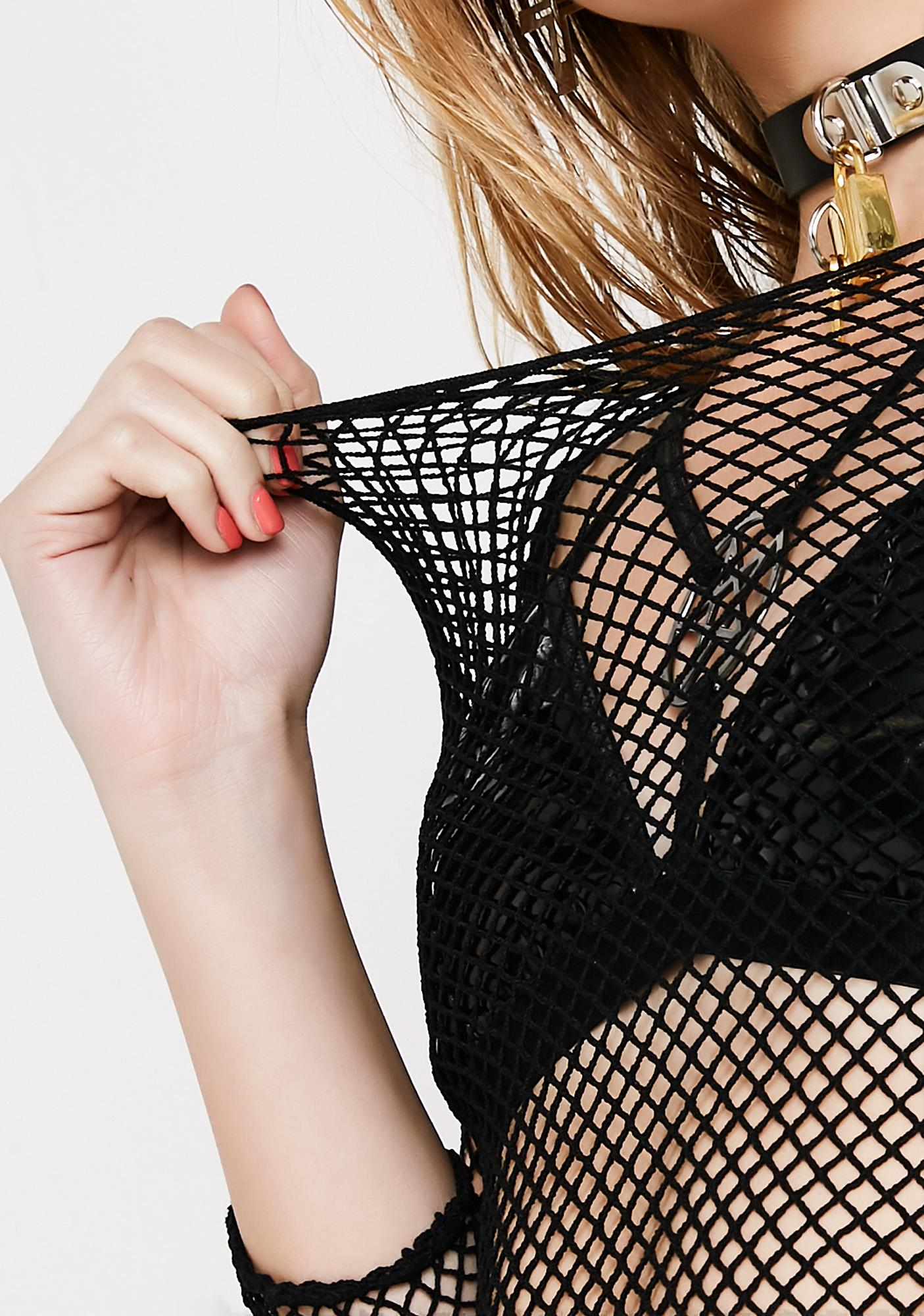Midnight Dangerous Woman Fishnet Top