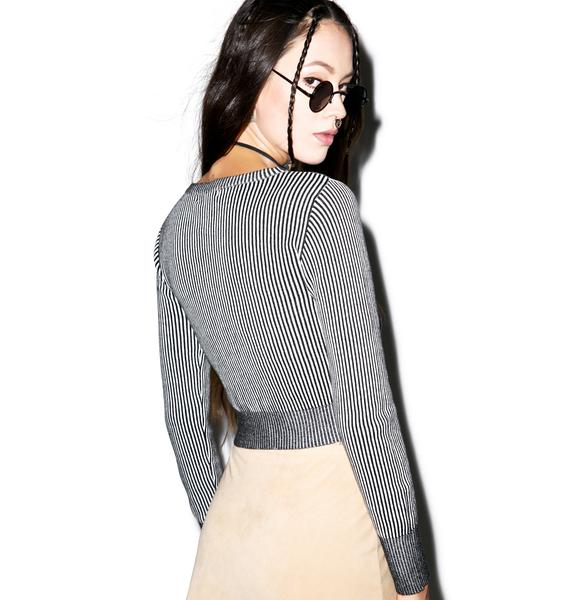 Glamorous The Fine Line Crop Sweater