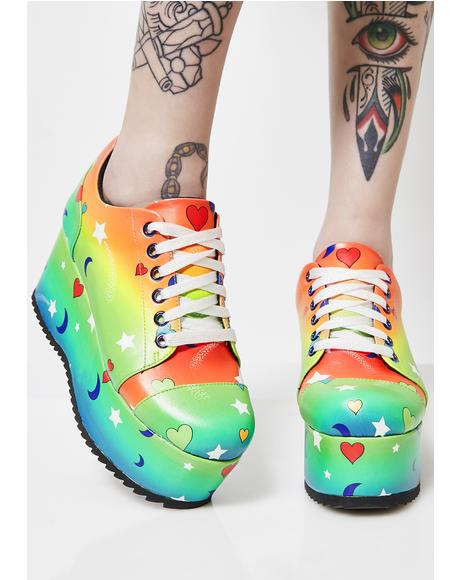 Outta This World Platform Sneakers