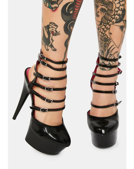 Dangerous Woman Platform Buckle Heels