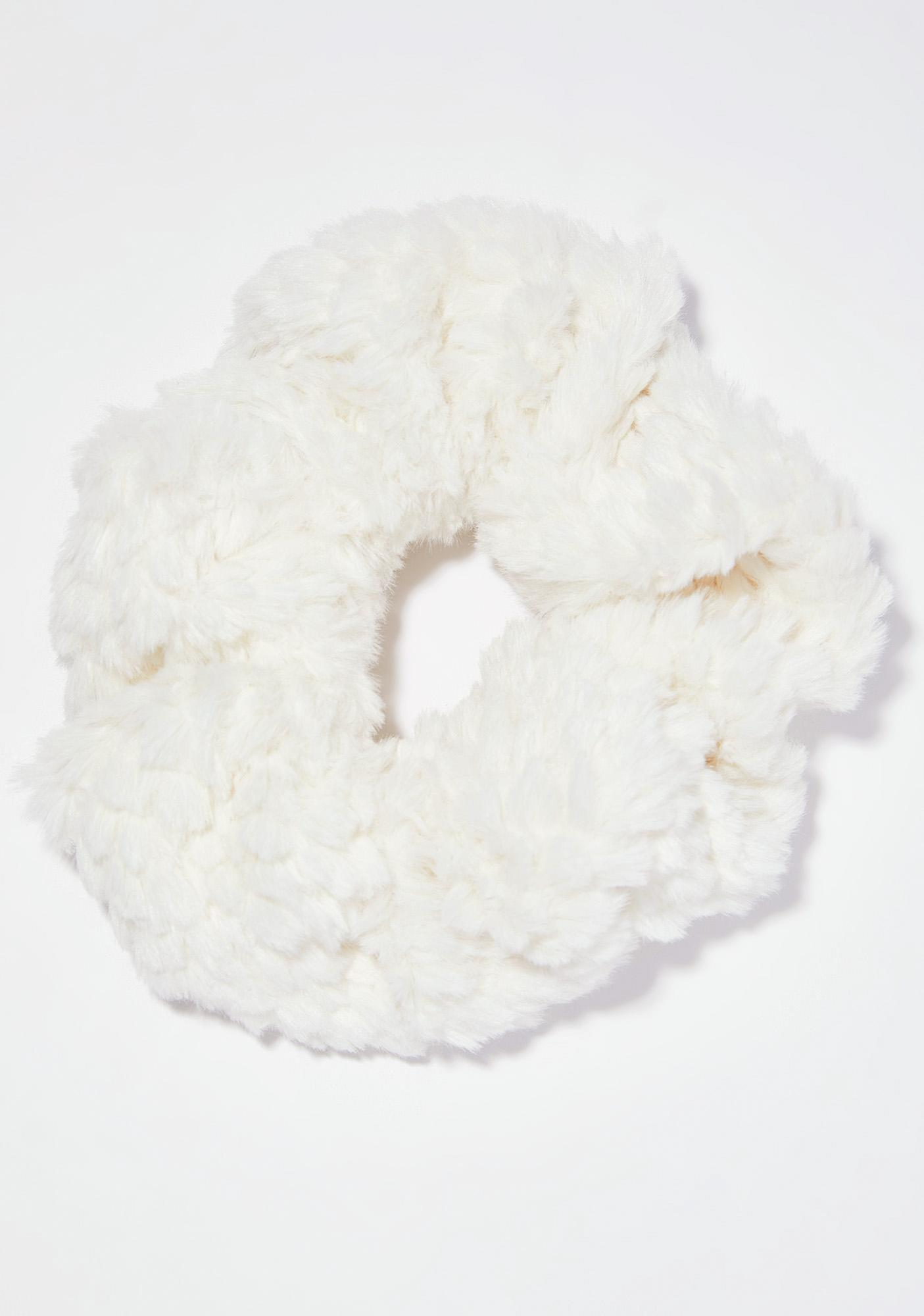 Snow Fluff Scrunchie