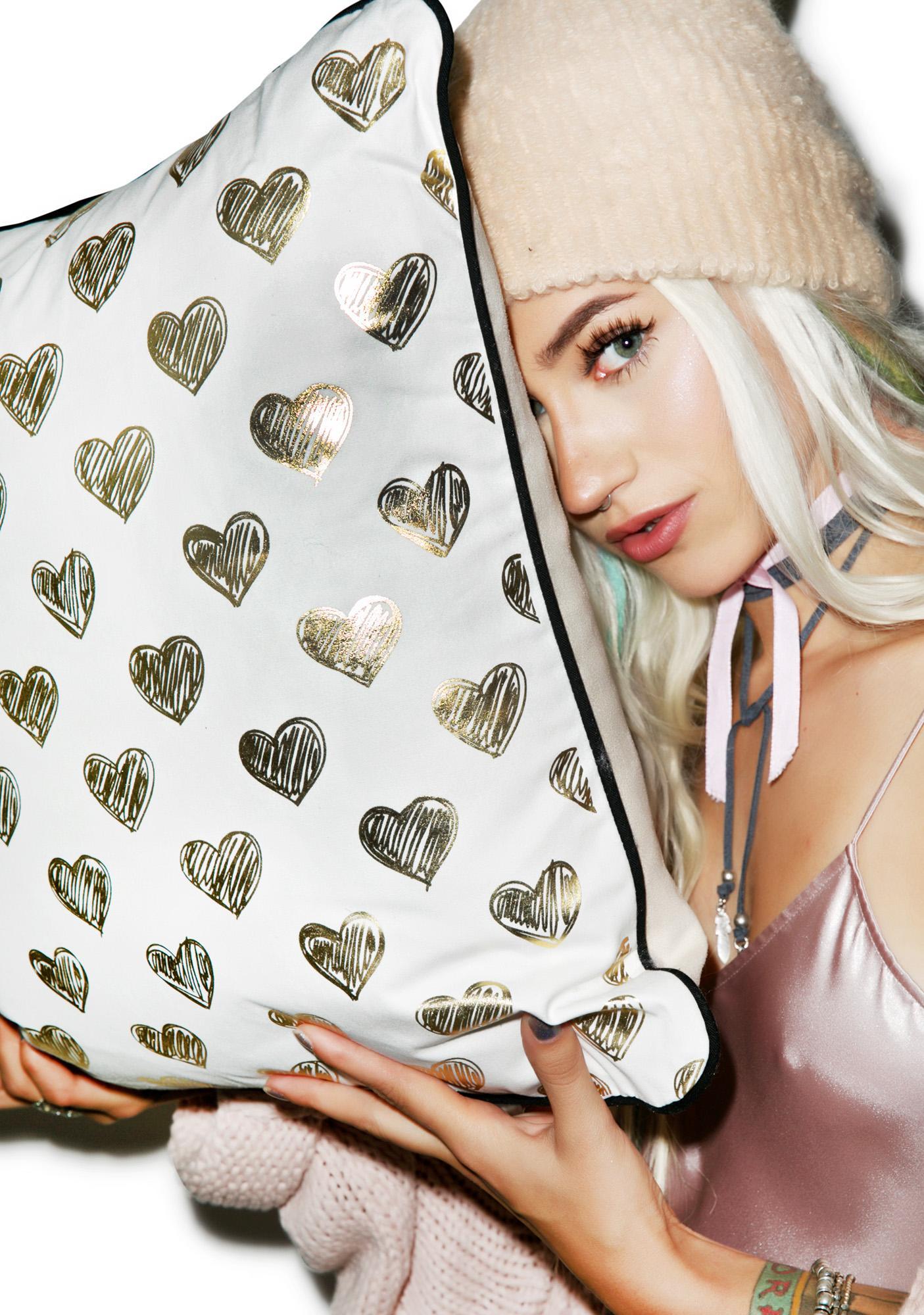 Ur Heart Is Golden Pillow