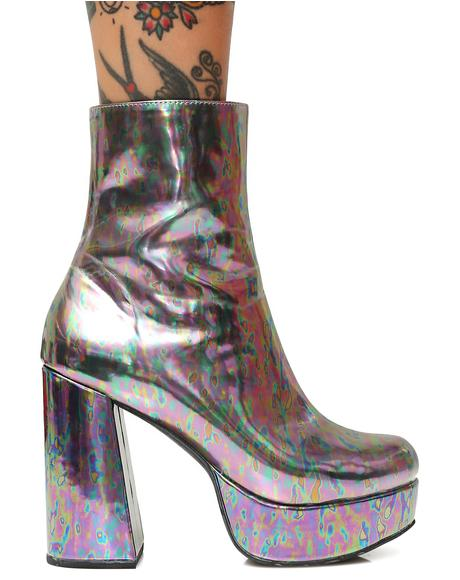 Slick Platform Boots