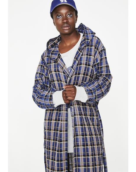 Packin' Plaid Trench Coat
