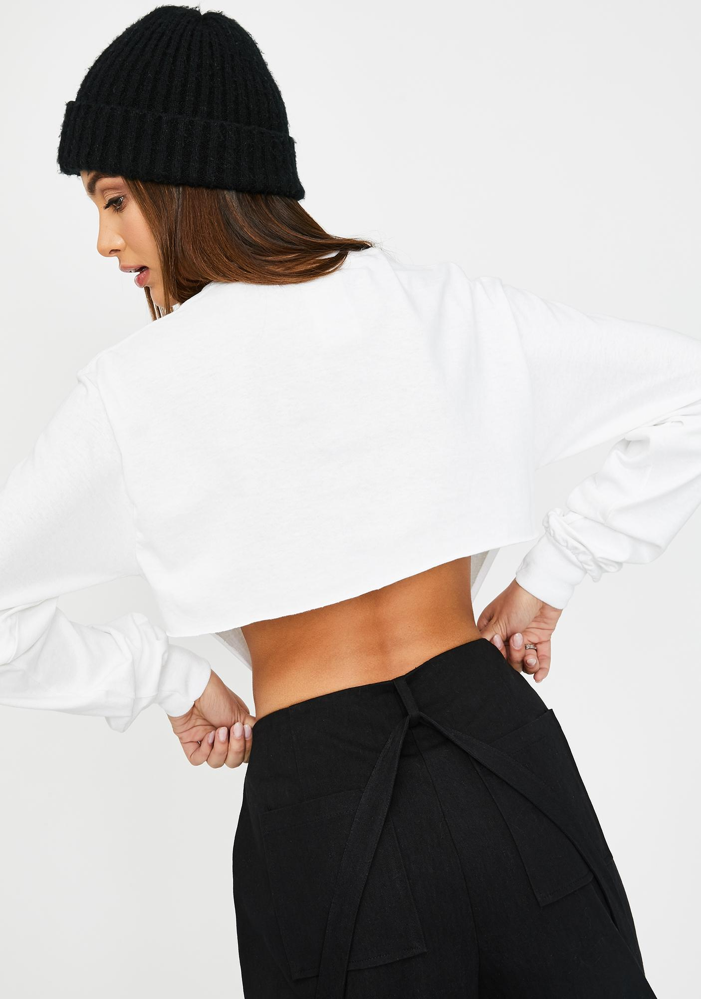 The Ragged Priest White Supply Crop Top