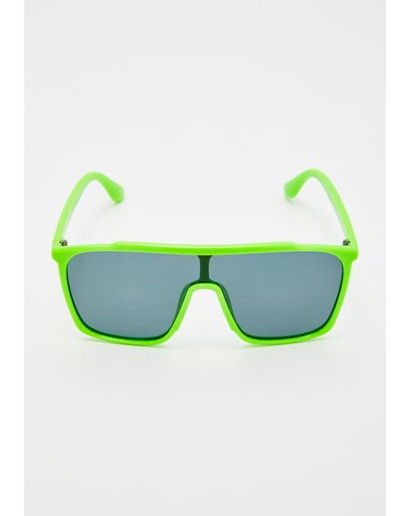 Sink Or Slime Shield Sunglasses