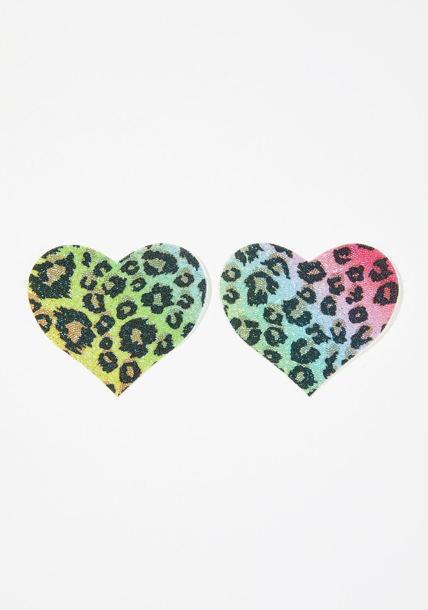 Pastease Cheetah Glitter Heart Pasties