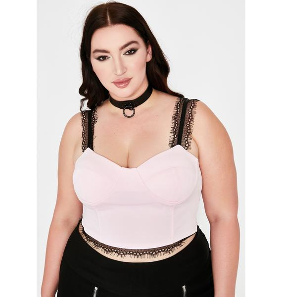 Baby Pause Baddie Moment Bustier Top