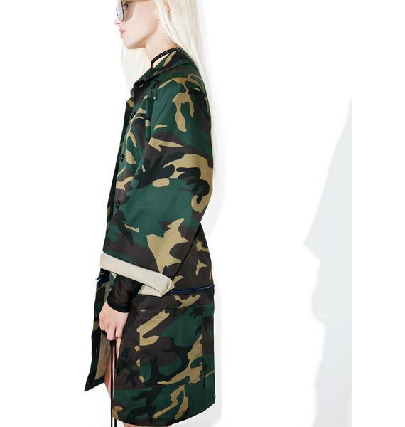 HLZBLZ On 2 U Long Camo Jacket