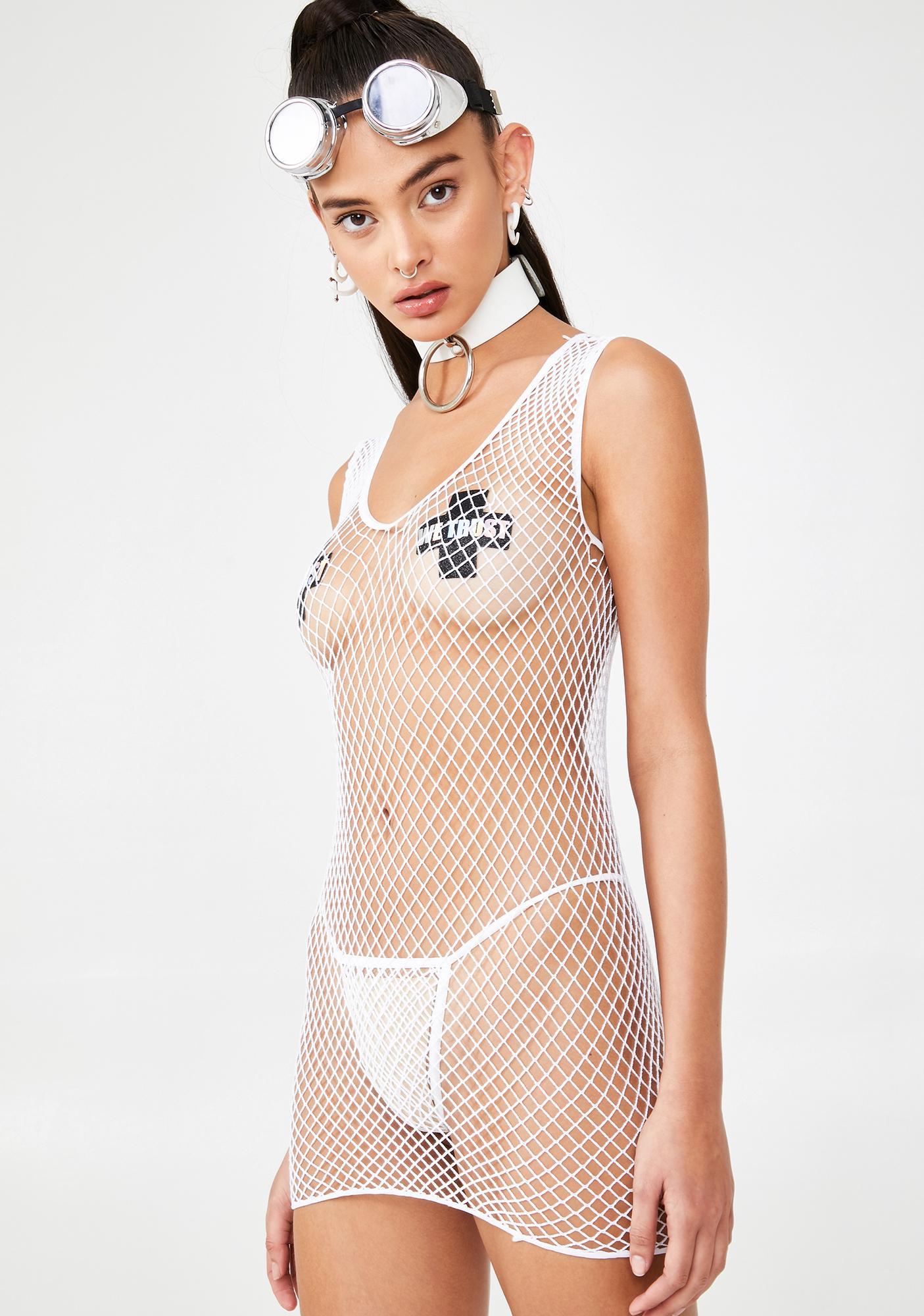 Boo Up All Night Fishnet Set