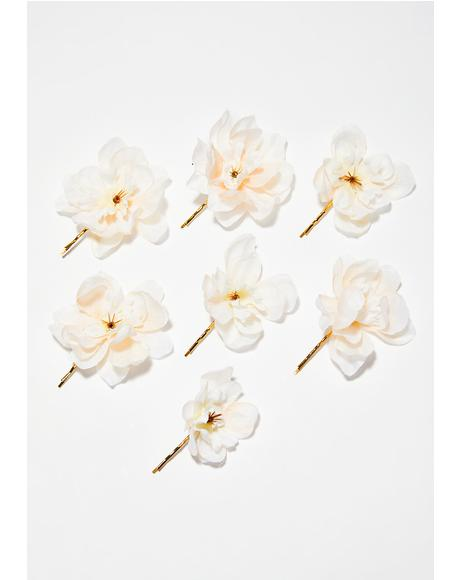 Franny Flower Hair Pins