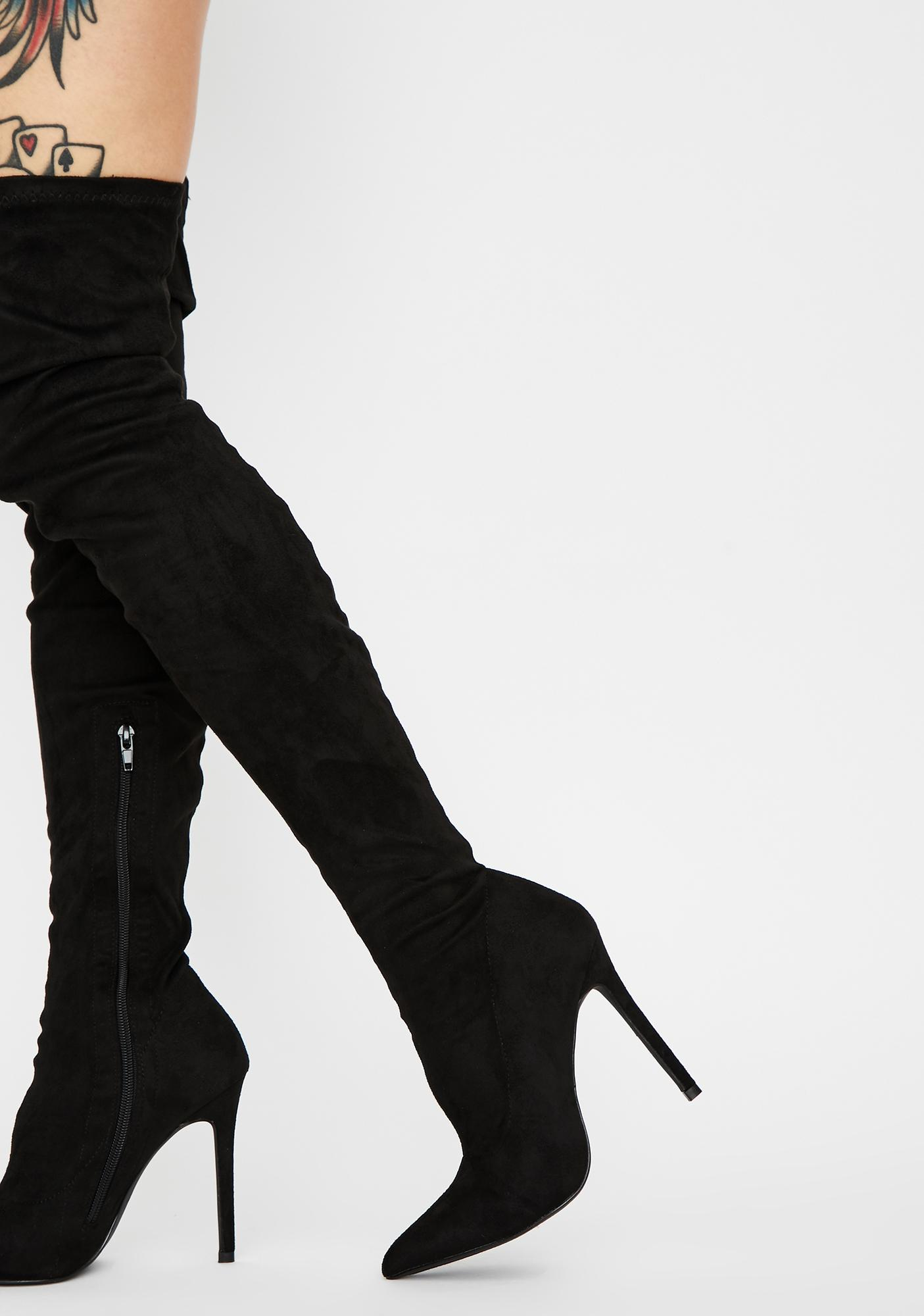 Luna Draw The Line Thigh High Boots