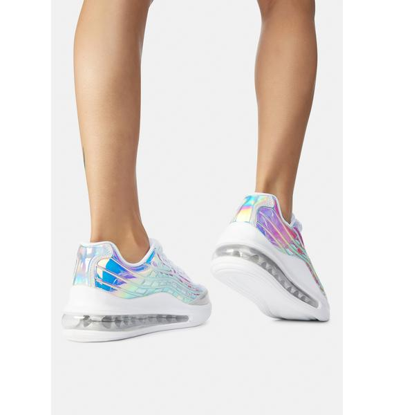 Shine Don't Stop Holographic Sneakers