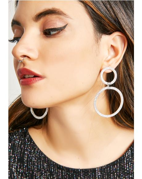 Double Entendre Circle Earrings