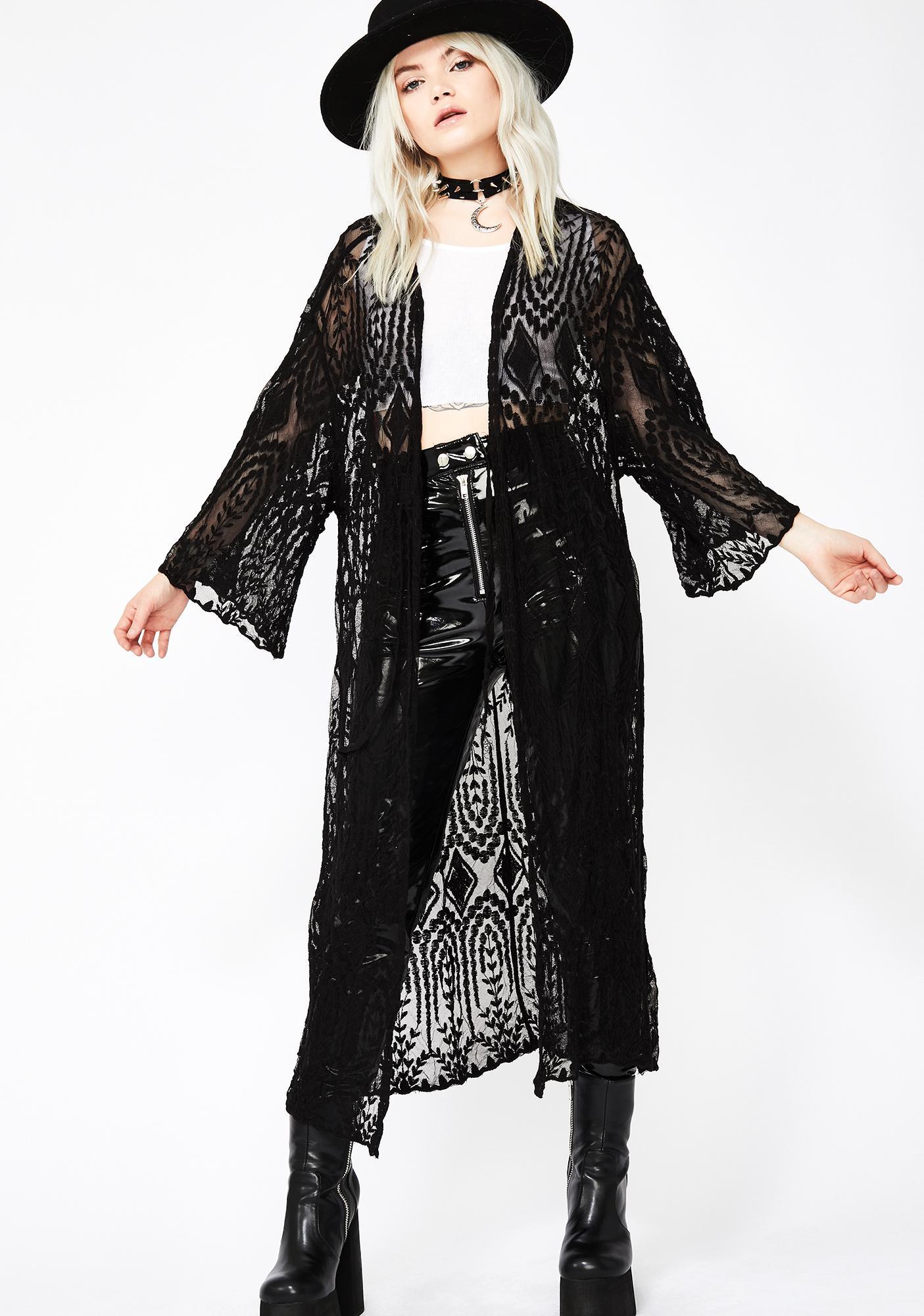 Midnight Festival Fomo Lace Kimono