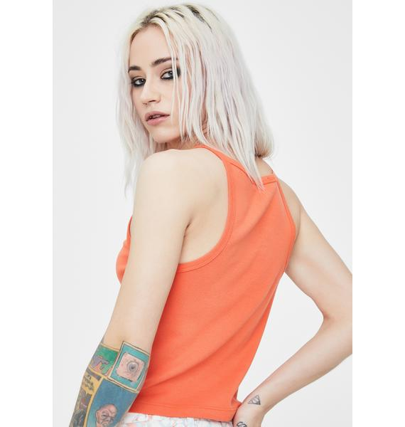 Obey Obey Pill Font Cropped Tank