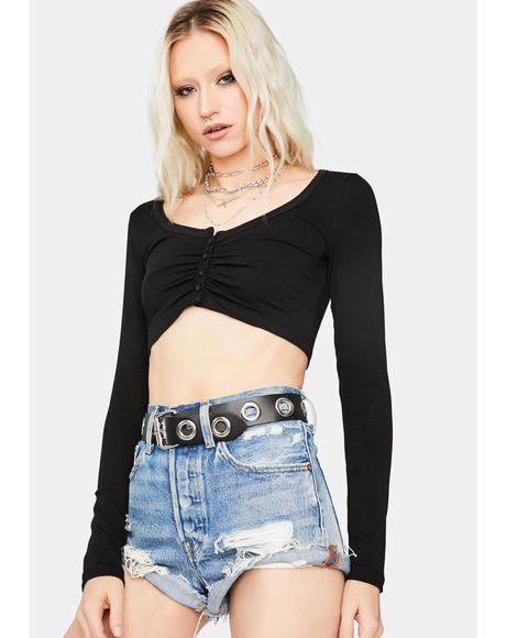 Worth Waitin' For Long Sleeve Crop Top