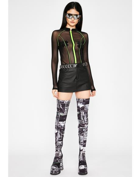 Nox Rave Patrol Sheer Bodysuit