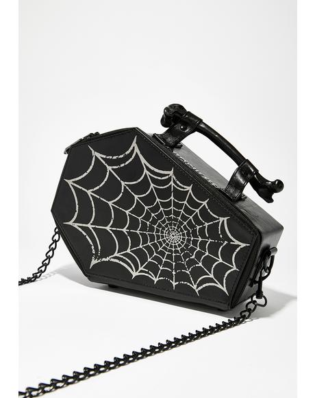 Spiderweb Coffin Purse