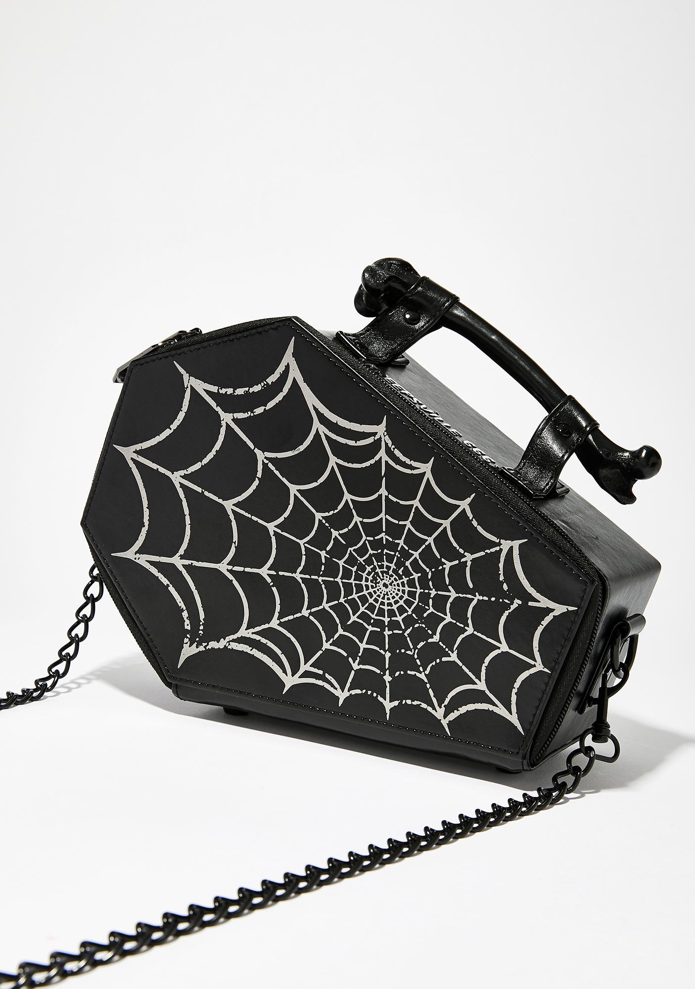 Kreepsville 666 Spiderweb Coffin Purse