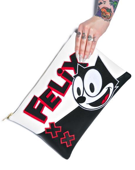 Felix Color Block Clutch Bag
