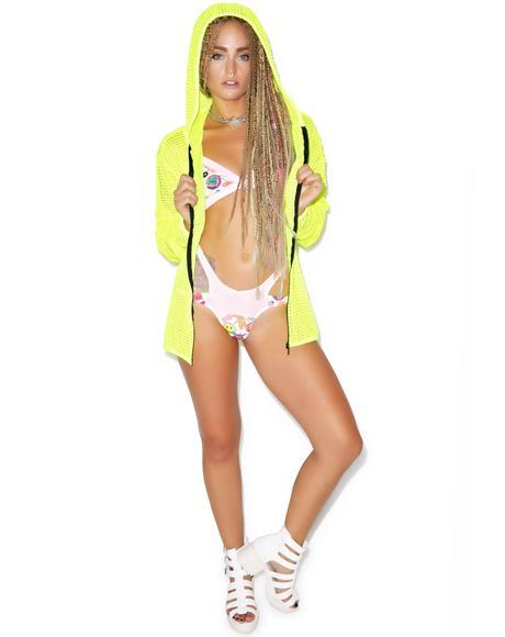 Mesh Hooded Jacket