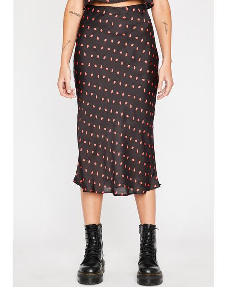 Kiss Of Death Midi Skirt