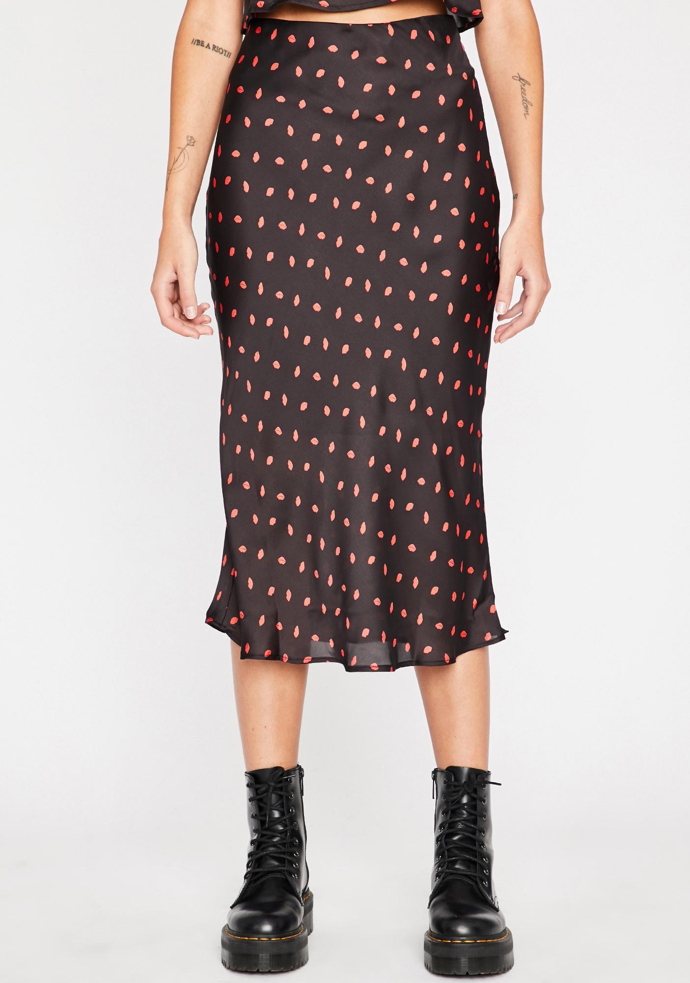 Kiss Of Death Midi Skirt