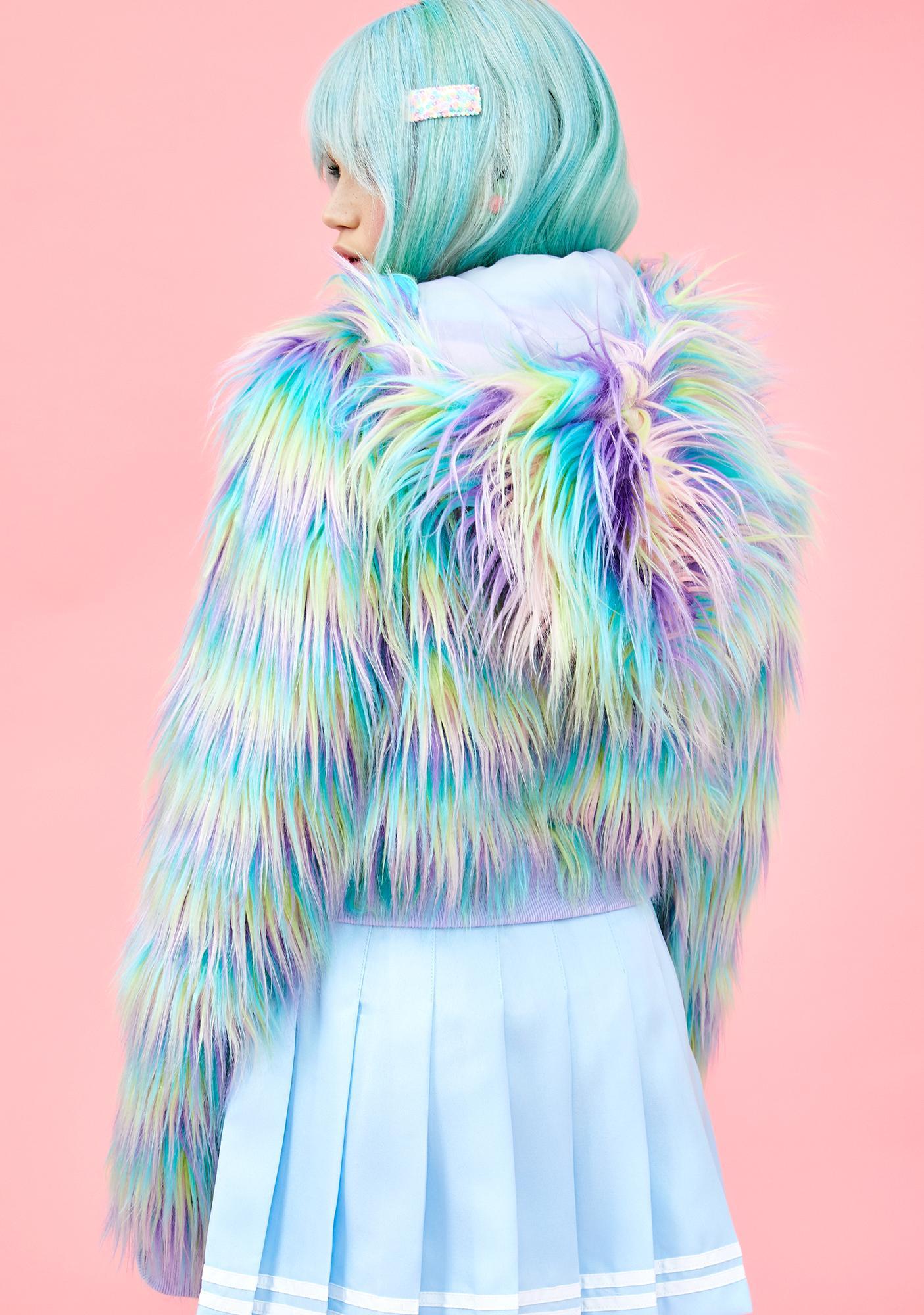 Sugar Thrillz Pixie Garden Faux Fur Jacket